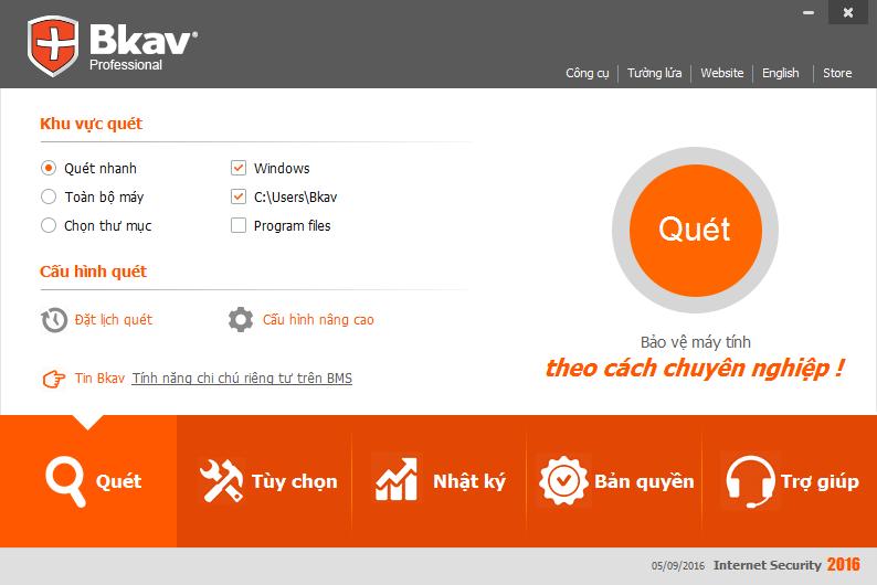 Phần mềm diệt virus nổi tiếng Bkav