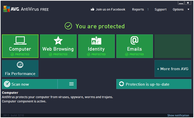 Phần mềm diệt virus AVG Anti-Virus Free