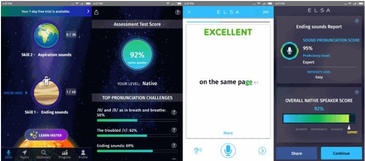 App luyên phát âm tiếng anh Elsa
