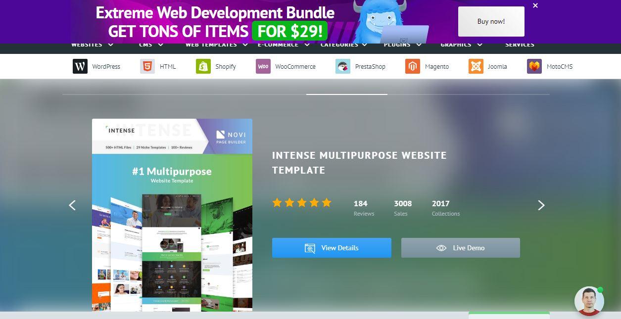 Template Monster là một website lớn có thể bán nhiều loại sản phẩm kỹ thuật khác nhau