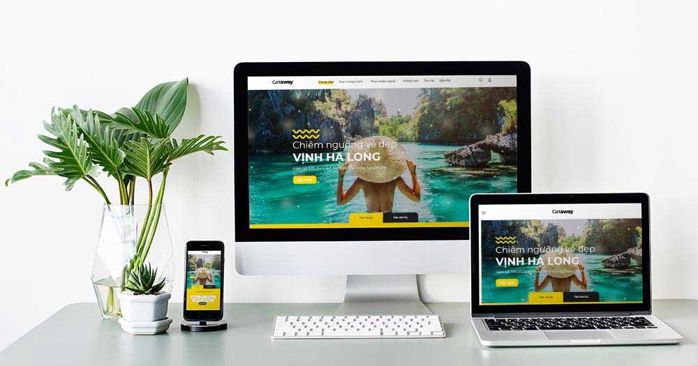 Getaway là mẫu website du lịch được đánh giá cao