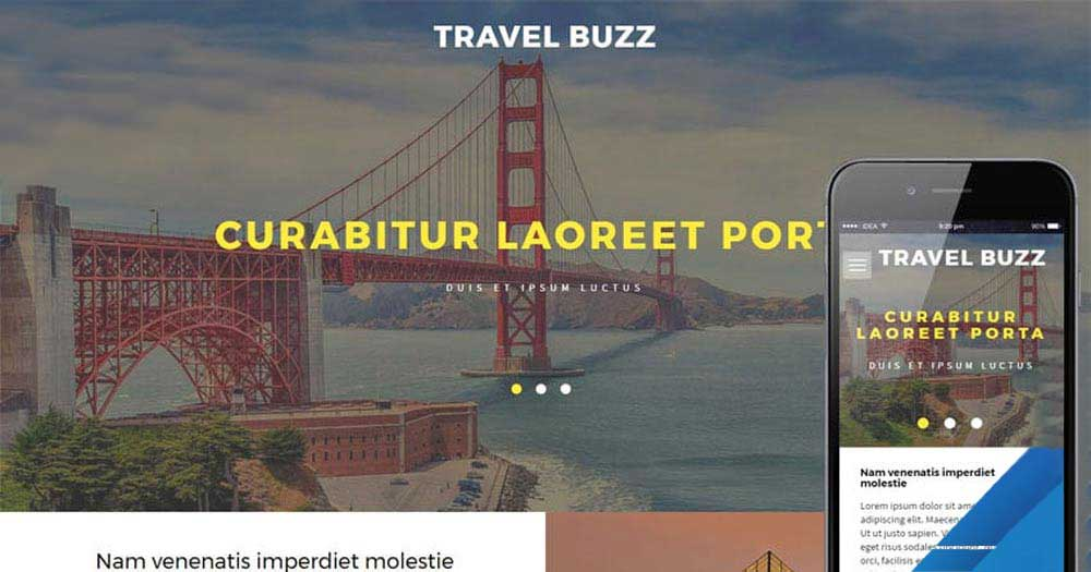 Giao diện website du lịch Travel Buzz