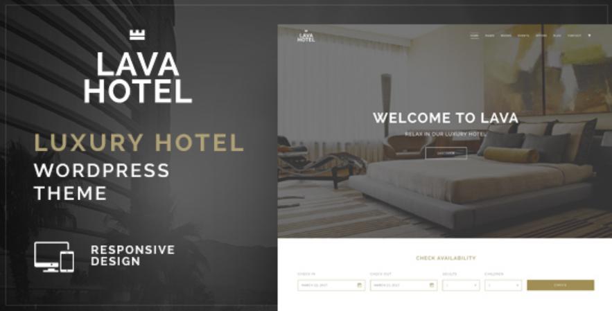 Theme wordpress Hotel Luxyry