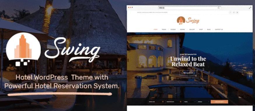 Theme wordpress cho website khách sạn Swing Lite