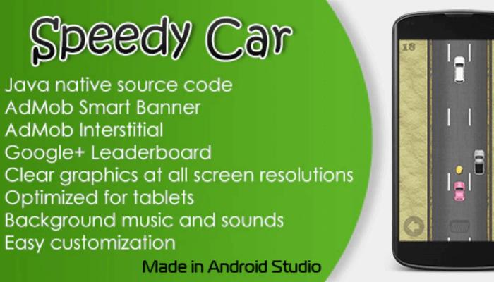 template ứng dụng cho thiết bị di động speedy car